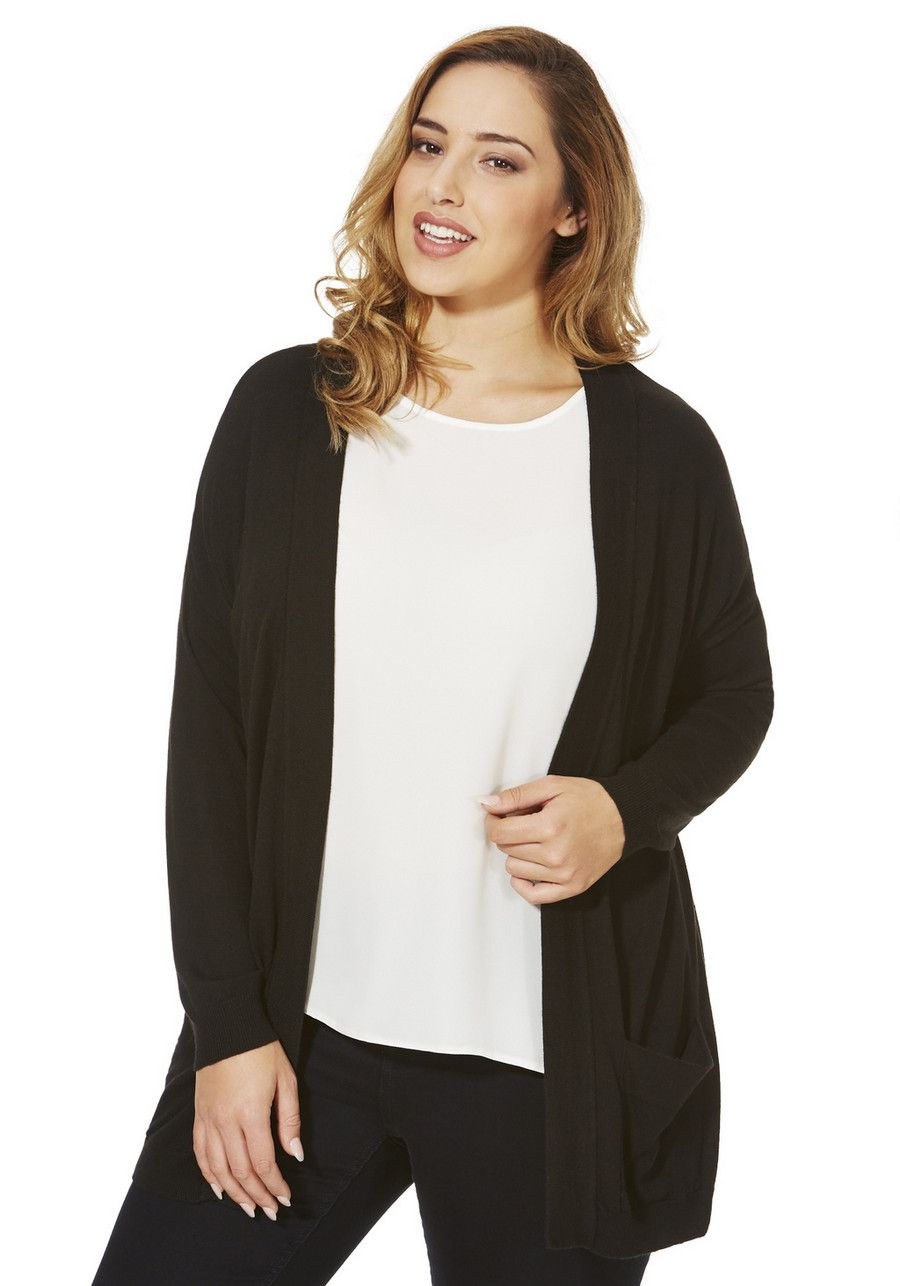 Clothing at Tesco | F&F True Drop Shoulder Plus Size Cardigan ...