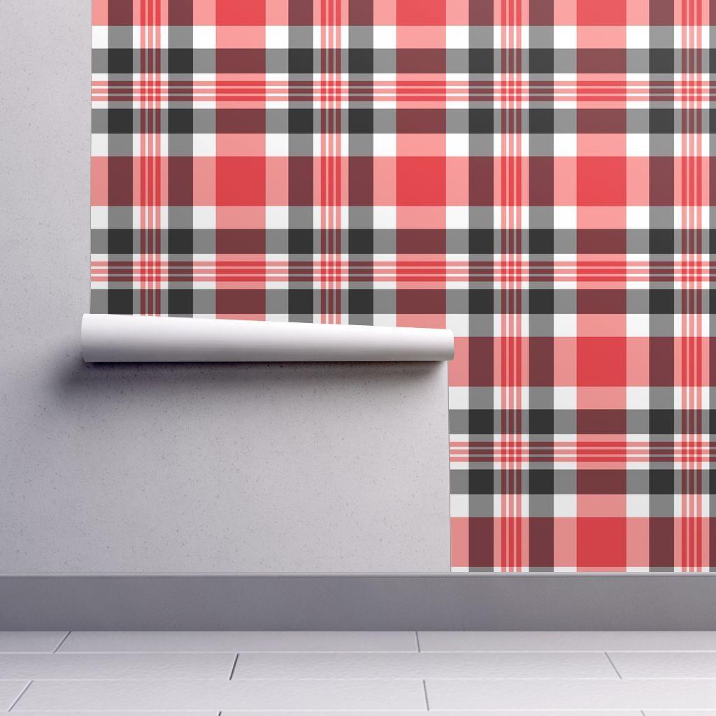 Red Black And White Plaid Plaid Wallpaper Wallpaper Perfect Wallpaper