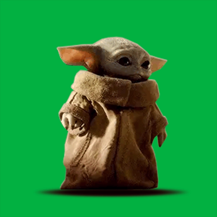 Baby Yoda Walk Green Screen Video Green Screen Video Backgrounds Greenscreen Green Background Video