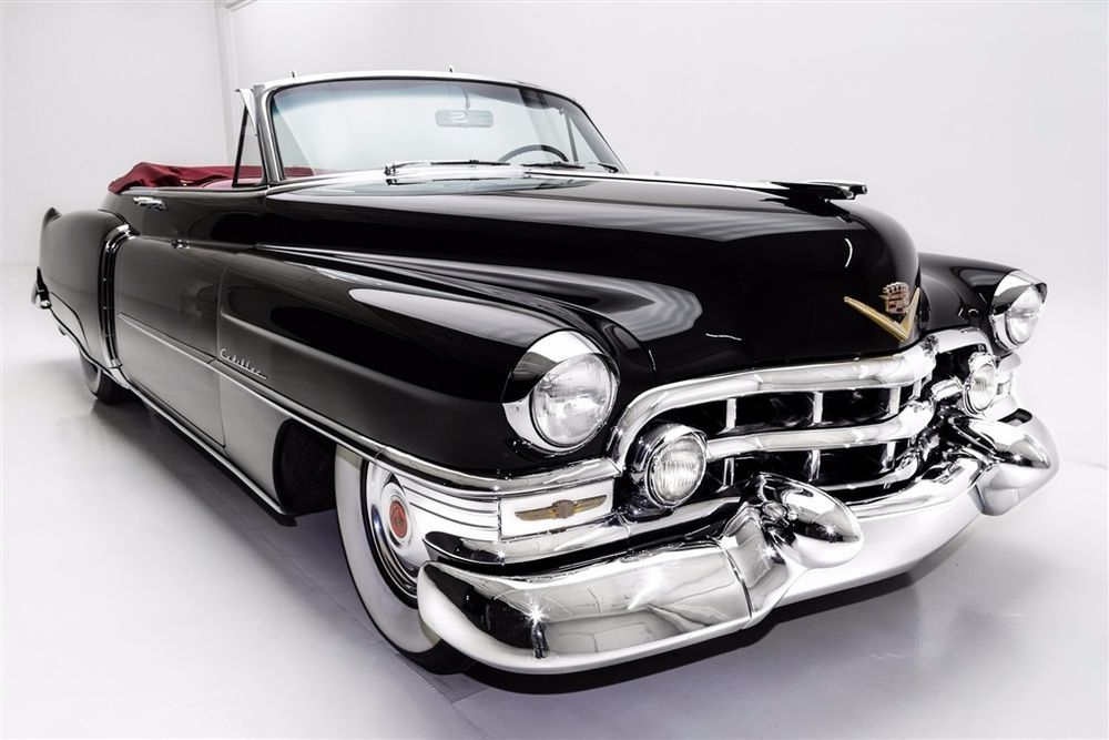 1952 Cadillac Other Black, Red Interior | Red interiors, Motor car
