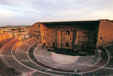 """FRANCE. Roman Theatre and its Surroundings and the """"Triumphal Arch"""" of Orange."""
