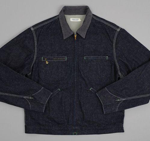 Dubbleworks Lined Denim Jacket, Indigo, via Hickoree's - sick jacket