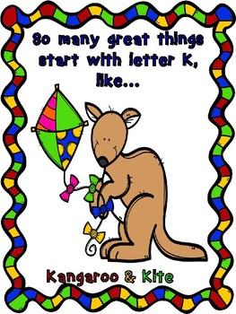 Letter K craft and color sheet