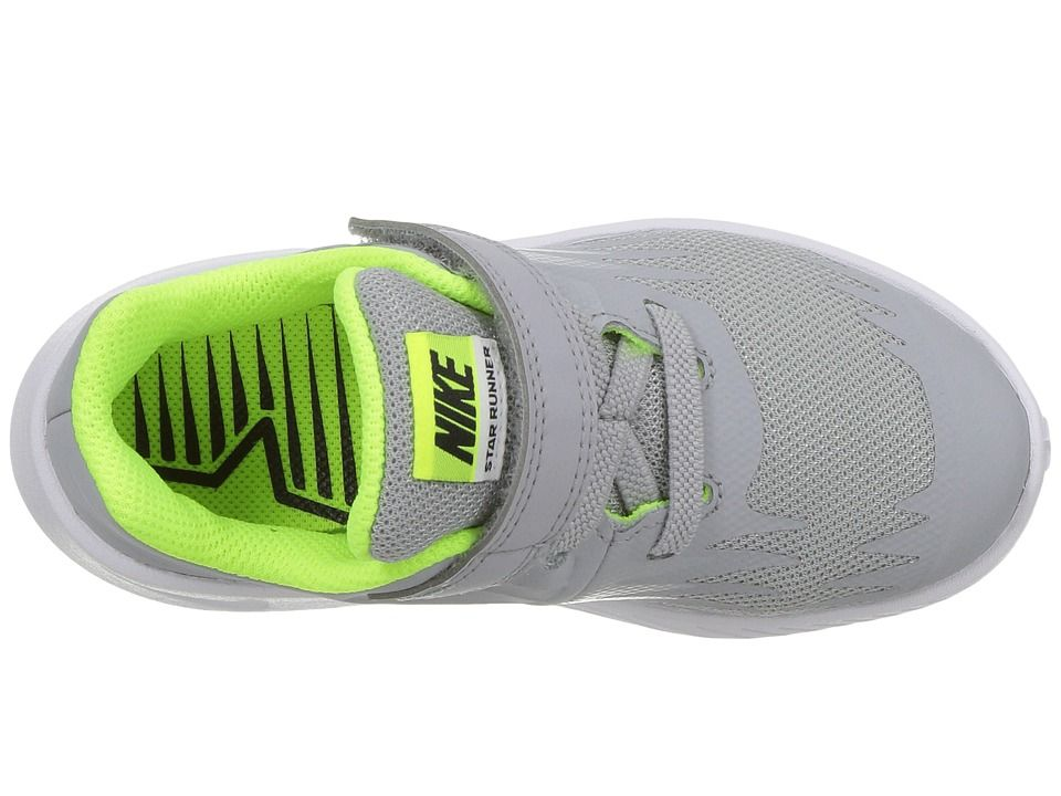 d975ed20b5e Nike Kids Star Runner (Infant Toddler) Boys Shoes Wolf Grey Black Volt White