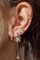 Photo of #14K #Chevron #Dainty #Diamond #Earrings #Gold