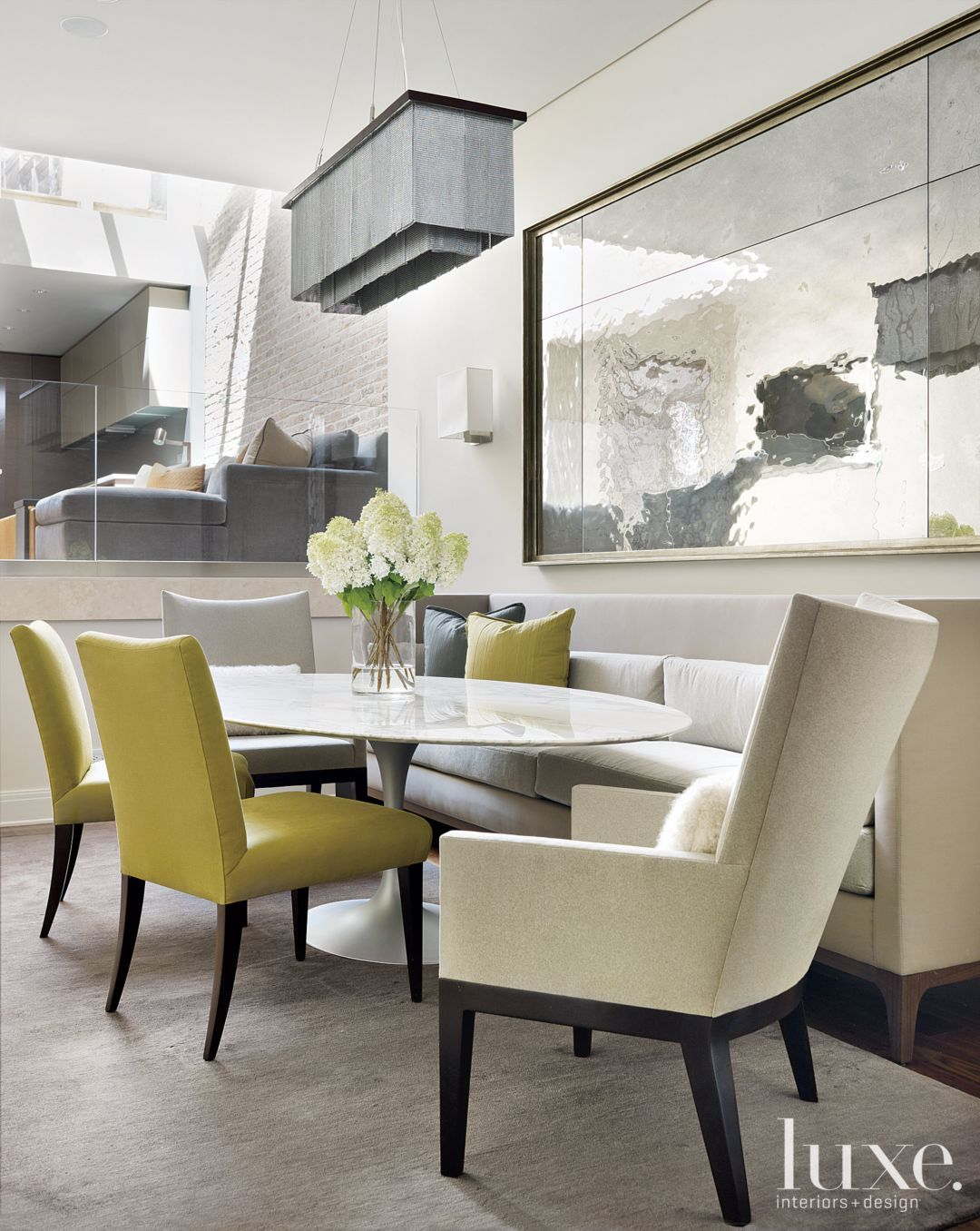 21 Banquette Designs You'll Lust After  Banquette Seating Gorgeous Living Spaces Dining Room Inspiration Design