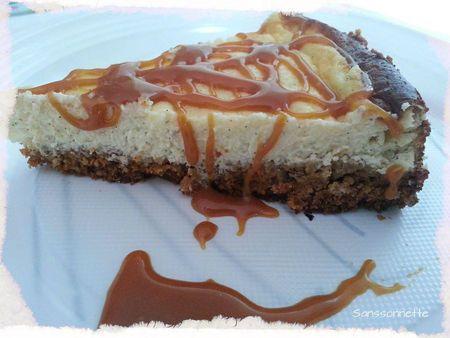 Cheesecake vanille et son caramel beurre sal plaisir - Cuisiner tous les jours avec thermomix ...