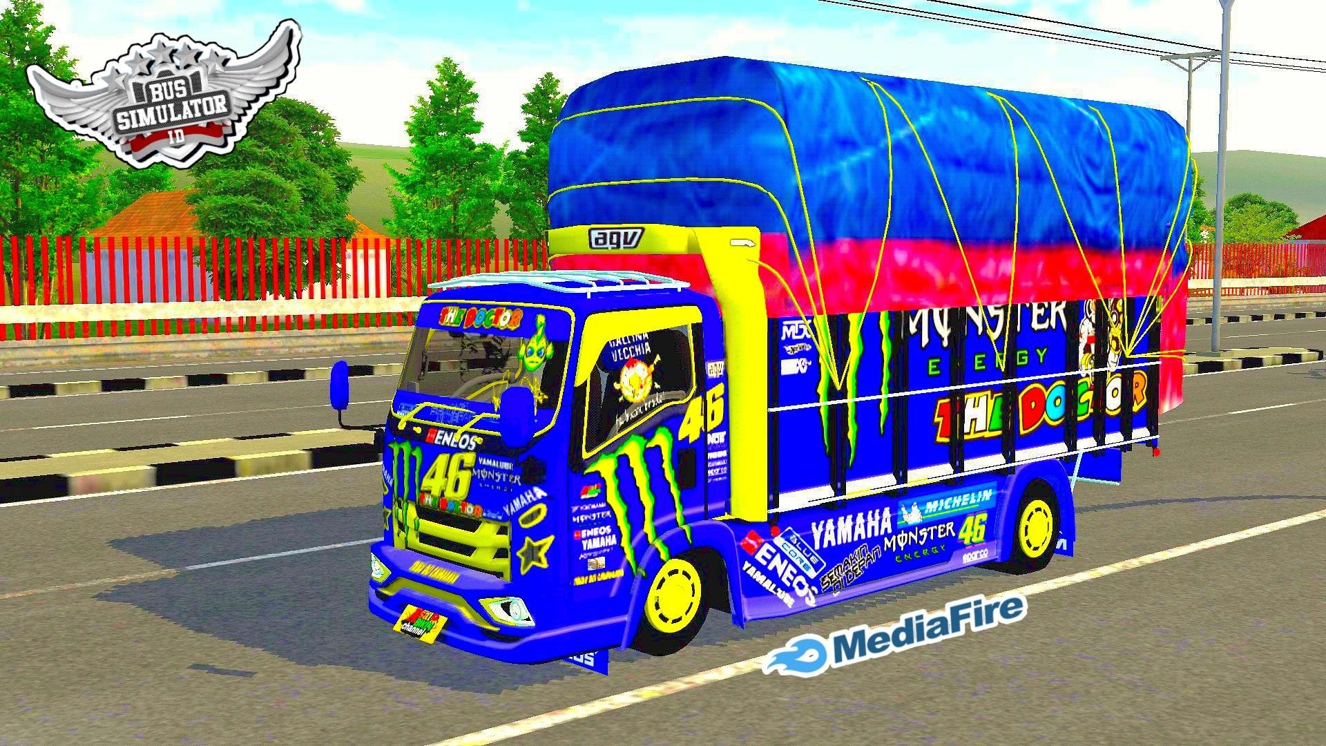 Mod Truck Stiker Valentino Rossi Bus Simulator Indonesia Di 2021 Mobil Futuristik Konsep Mobil Truk Besar
