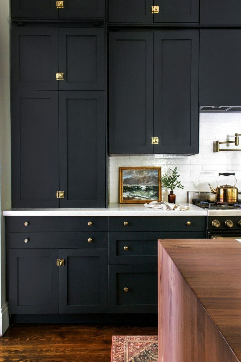 Before After The Blonde Vic Kitchen Reveal In 2020 Victorian Kitchen Black Kitchen Cabinets Kitchen Renovation