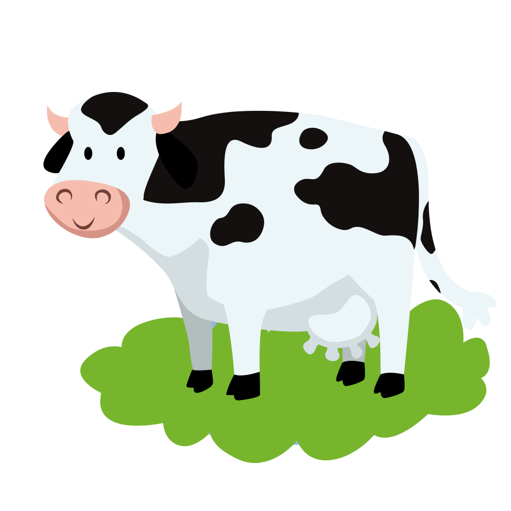 Cute Animated Cows - Cartoon Picture Of Cow - Free Transparent PNG Clipart  Images Download