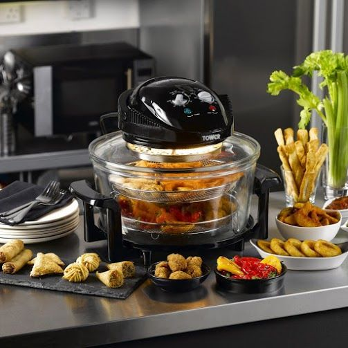 A truly high-capacity air fryer that brags fantastic performance. The appliance withdraws hot air perfectly and is capable of cooking even frozen food. Read more: http://www.bestadvisor.com/air-fryers