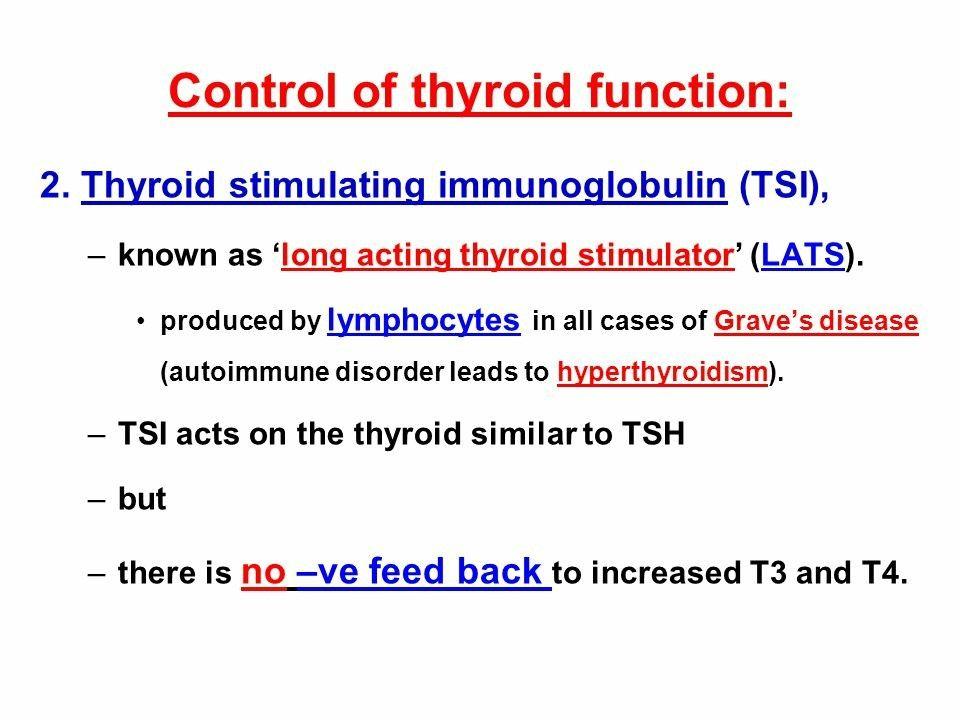TSI or LATS is Ig G Ab ... (With images)   Thyroid stimulating  immunoglobulin, Autoimmune disorder, Thyroid function