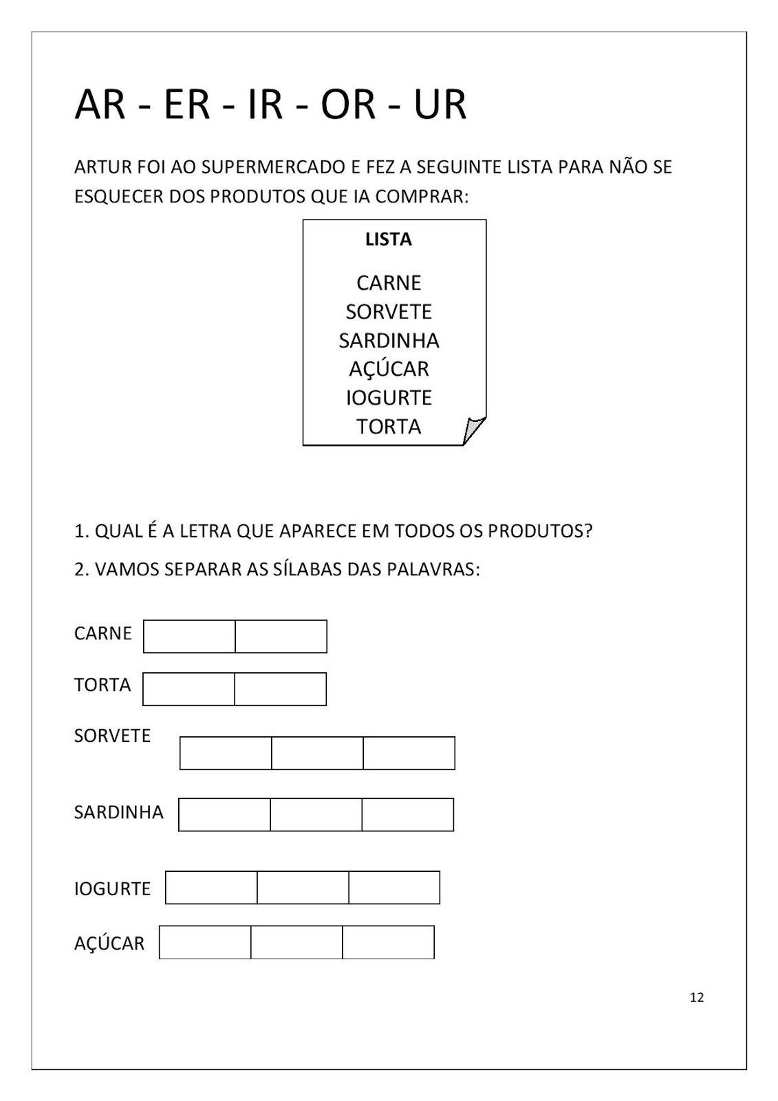 Document Page 012 Jpg 1131 1600 Atividades De Alfabetizacao