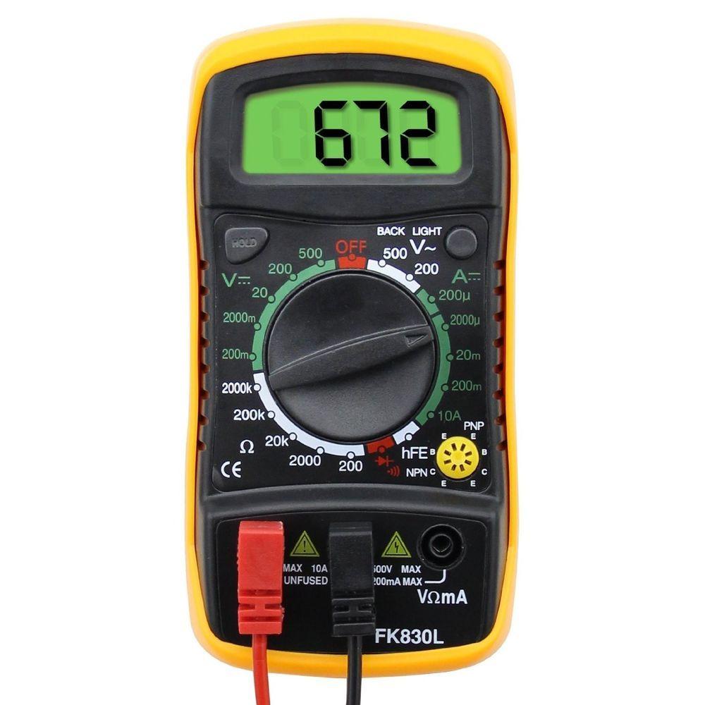 LCD Digital Multimeter AC DC Voltmeter Ammeter Ohmmeter