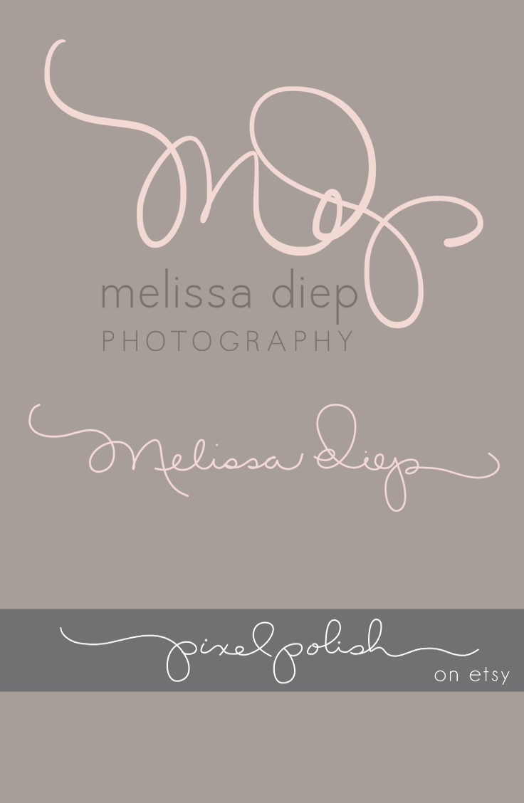 Handwritten initials, signature line. Logo, watermark, blog header ...
