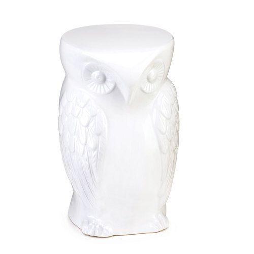 Owl Ceramic Decorative Stool