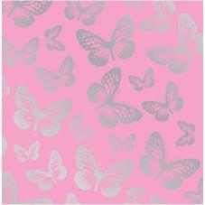 Fun 4 Walls Wallpapers Butterflies Pink Silver Effect Wp31256