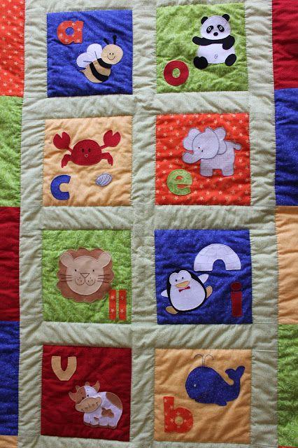 Mi hogar de patchwork colcha para bebe de patchwork - Colchas patchwork infantiles ...