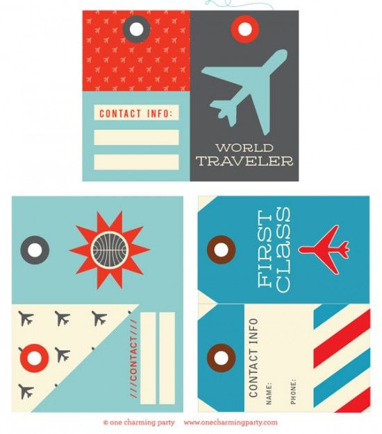 Bag Tag Template. These Are Vintage Luggage Tags That Can Be Used