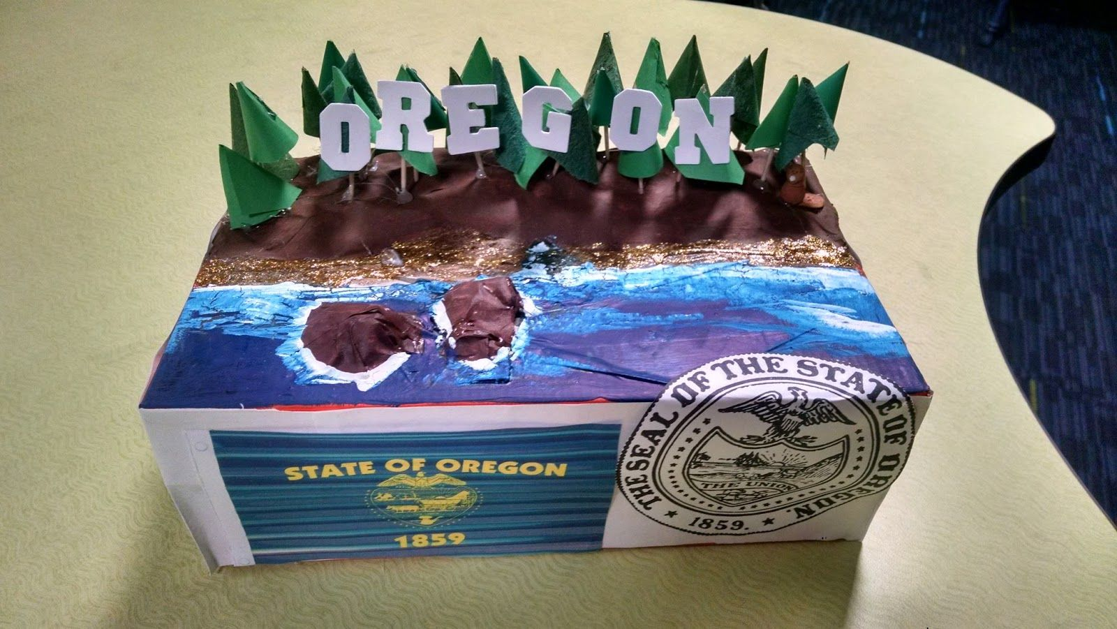 Map Of Oregon State Fairgrounds%0A This is the second year that I have given the assignment of a shoebox float  along with the traditional state report to my students