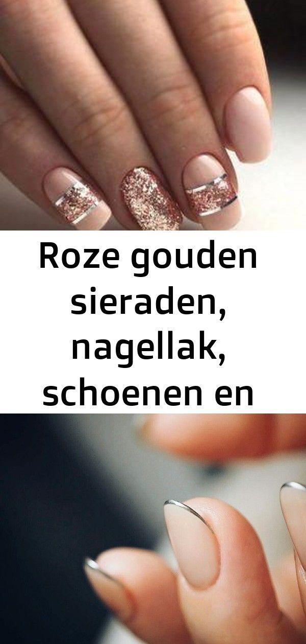 Roze gouden sieraden, nagellak, schoenen en meer ideeën hoe dit kleur te dragen 7