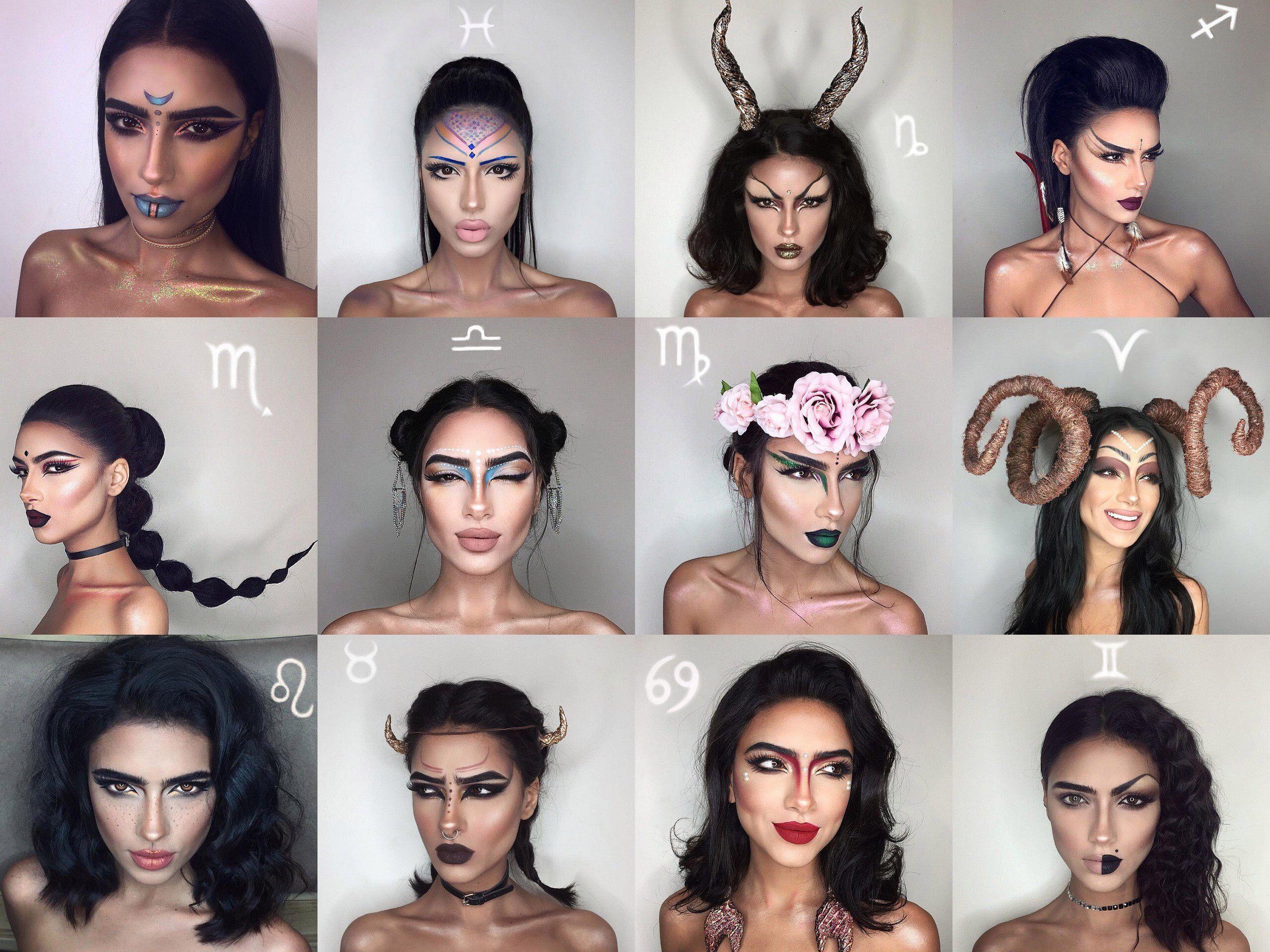 знаки зодиака в макияже картинки