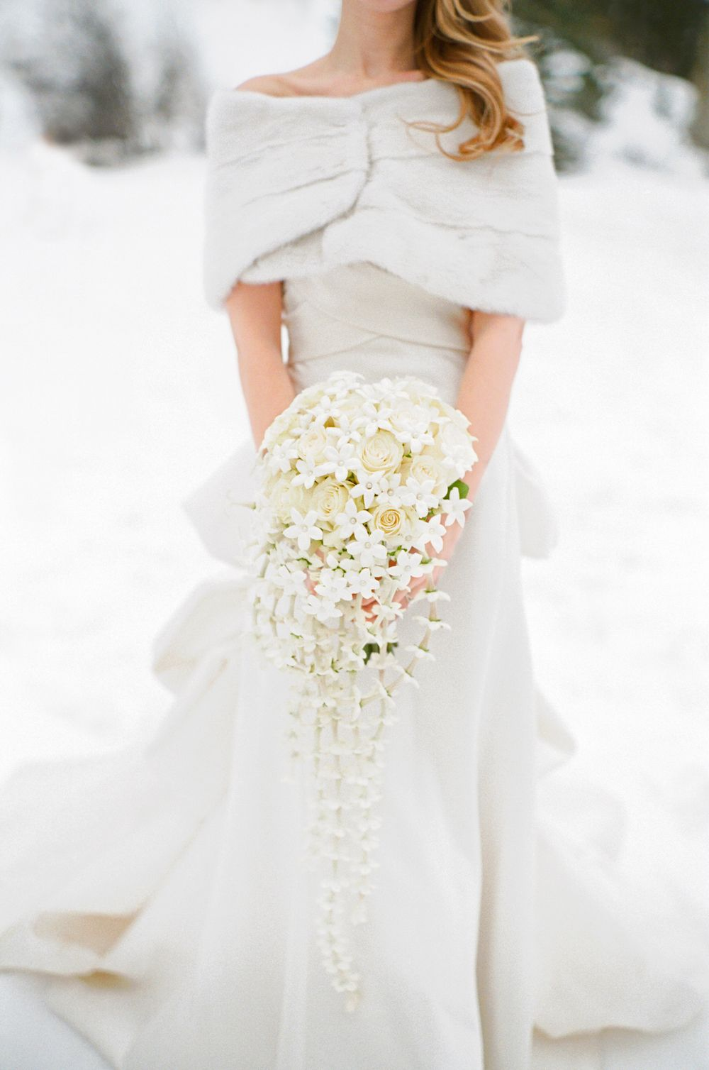 15 Bouquet Ideas Perfect For Winter Weddings Cascading Bridal