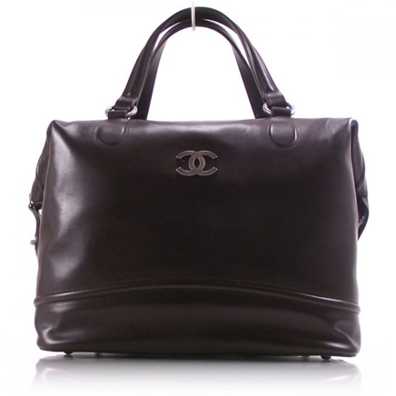 "CHANEL Calfskin Leather Doctor Bag Brown. Length: 12"" Height: 10"" Depth: 9"" Drop: 6"""