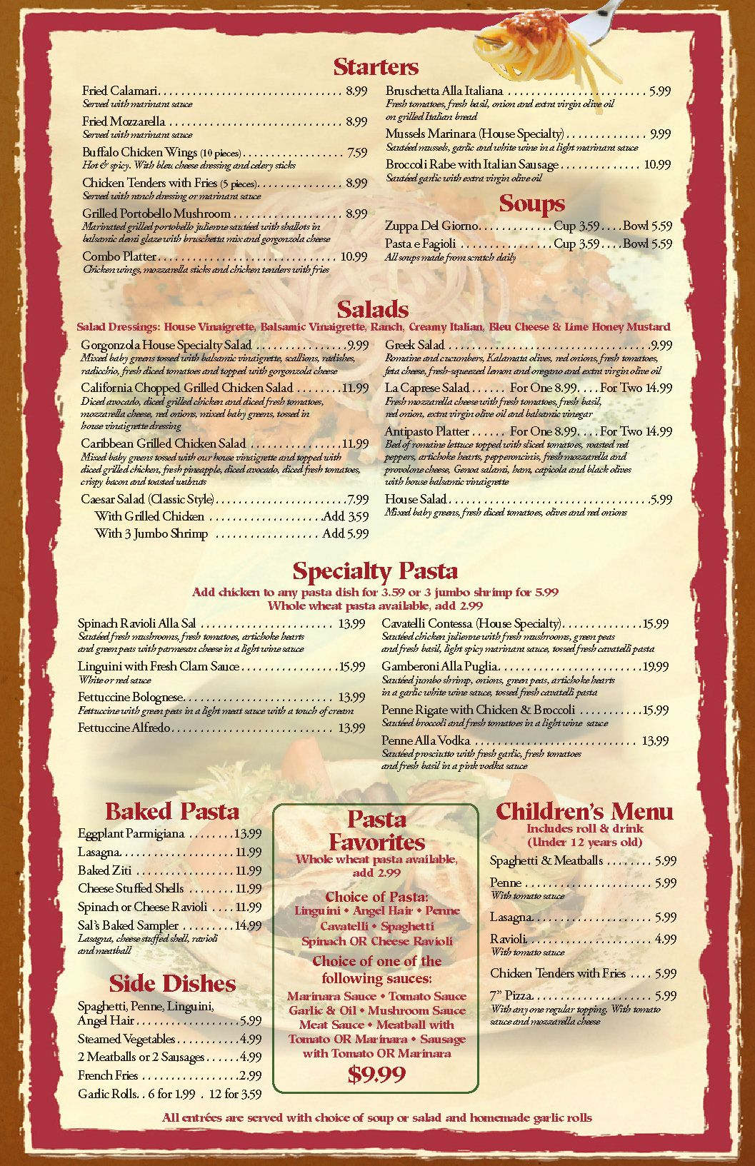 Free Printable Template Restaurant Menus – Lunch Menu Template