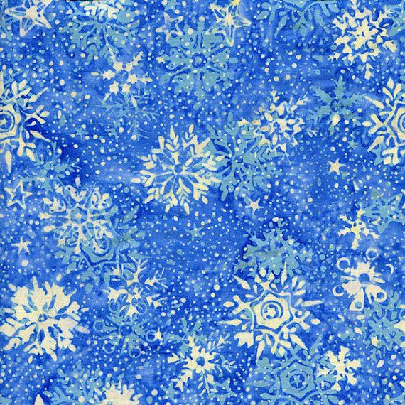 "Batik By-The-Yard - Winter Wonderland; Batik yardage; Cotton fabric yardage; 44"" wide; Batik Fabric - HS14A-D1"