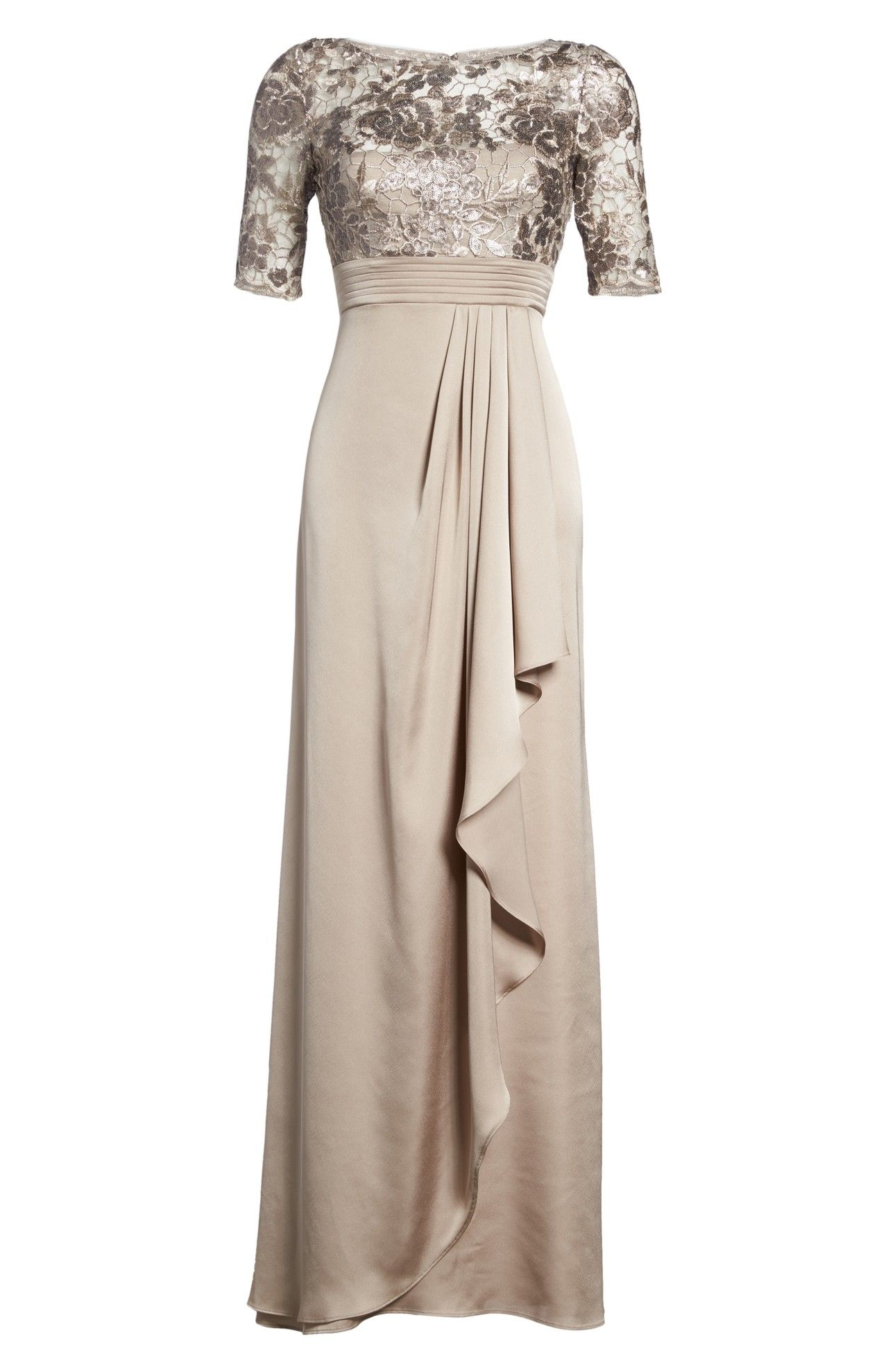 Adrianna Papell Floral Sequin Embroidered Gown (Regular ...