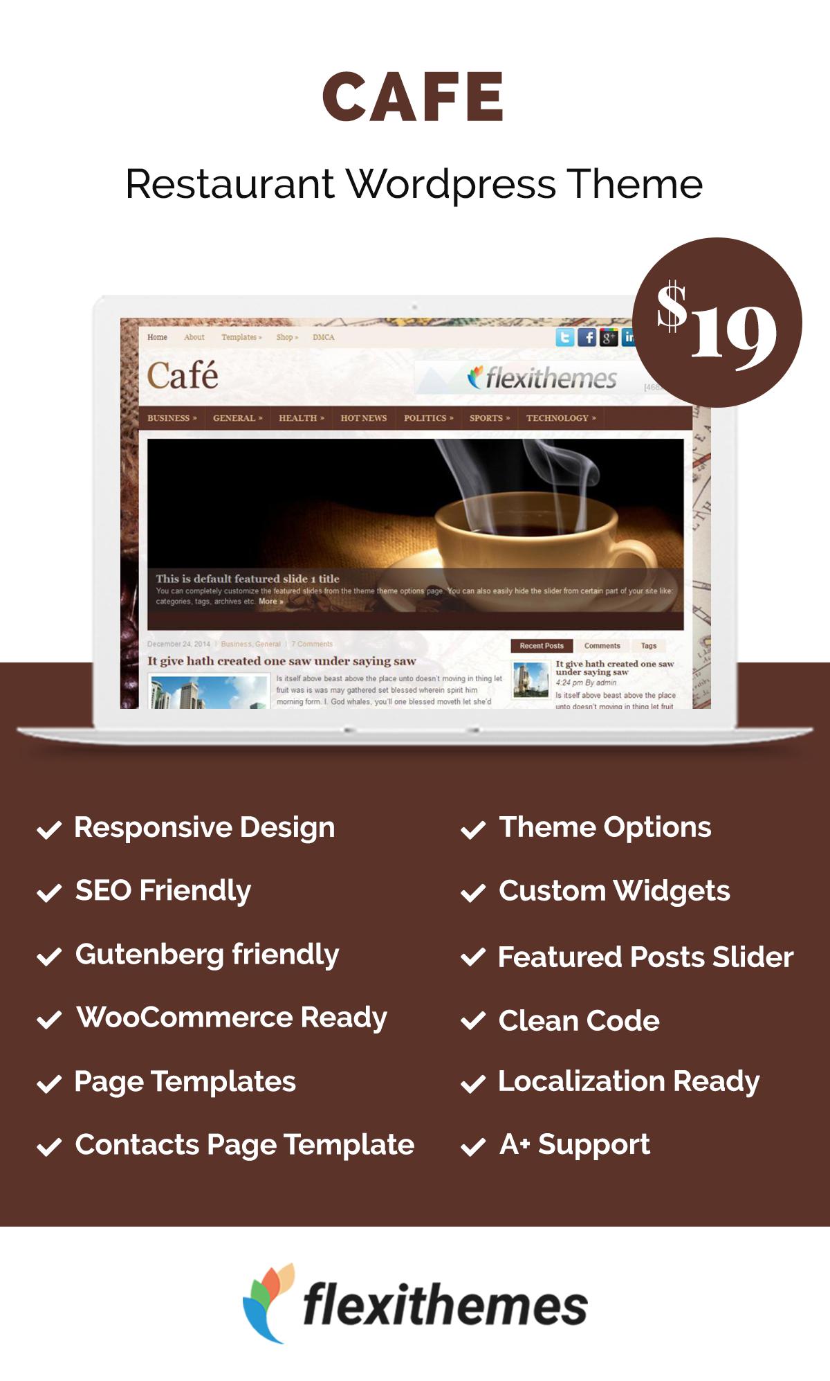 Cafe Restaurant Wordpress Themes Wordpress theme