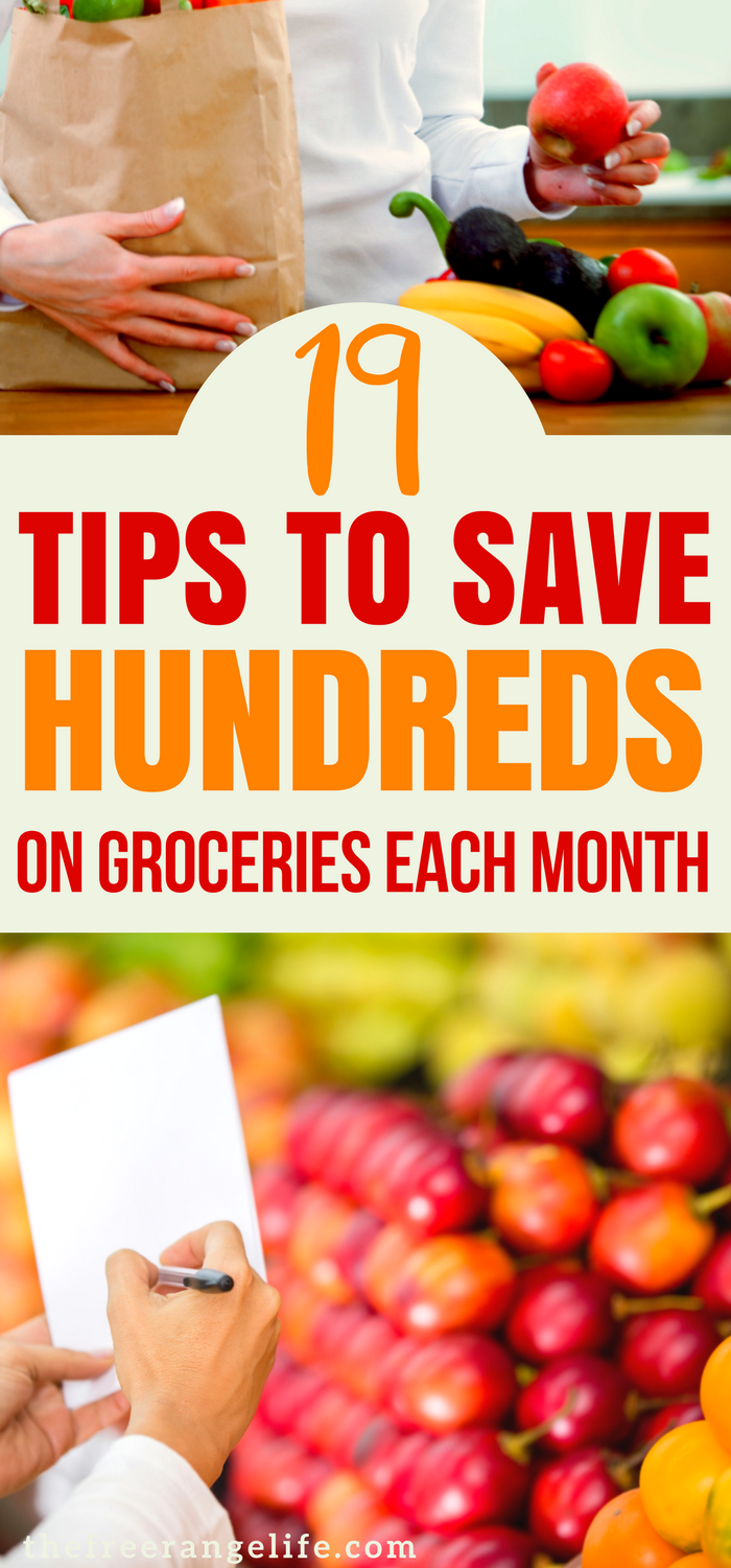 Are you looking for ways to save money and reduce spending each month? Here are 19 ways to save money on groceries- without using coupons!