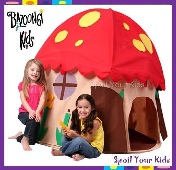 BAZOONGI KIDS Play Cubby House Tent Structure - Childrens Mushroom Hut- fun NEW  sc 1 st  Pinterest & BAZOONGI KIDS Play Cubby House Tent Structure - Childrens Mushroom ...
