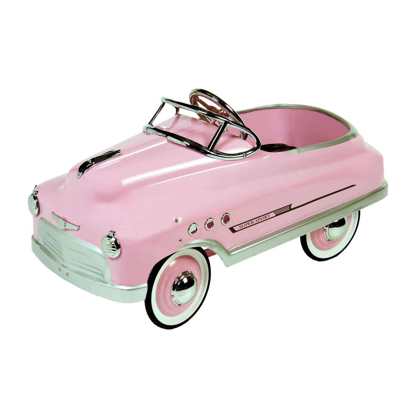 Dexton Pink Comet Sedan Pink Dx 20131 Pink Pedal Car Vintage Pedal Cars Ride On Toys