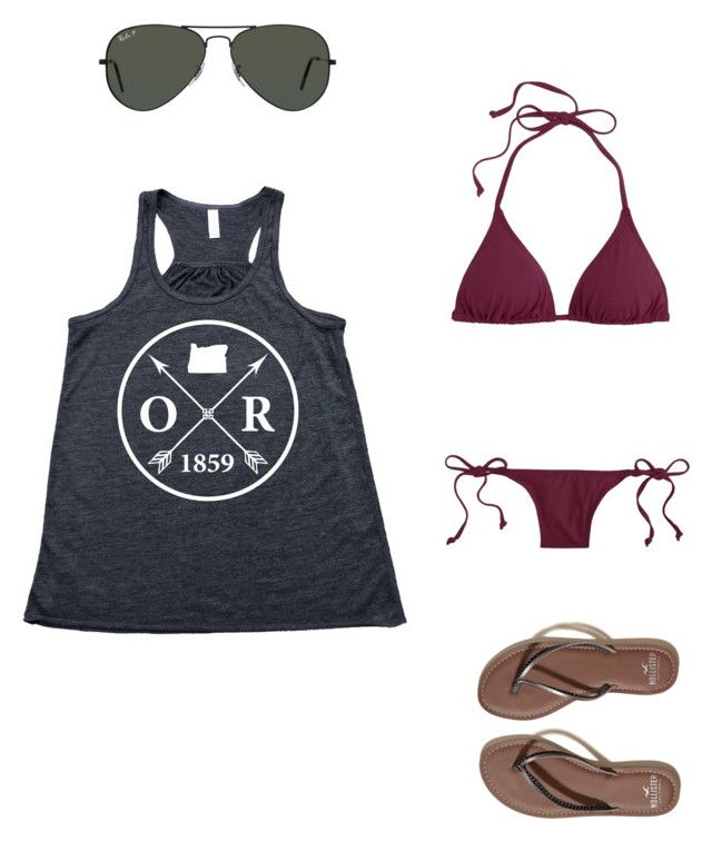"""""""😀"""" by melodyleighmitchell on Polyvore featuring J.Crew, Hollister Co. and Ray-Ban"""
