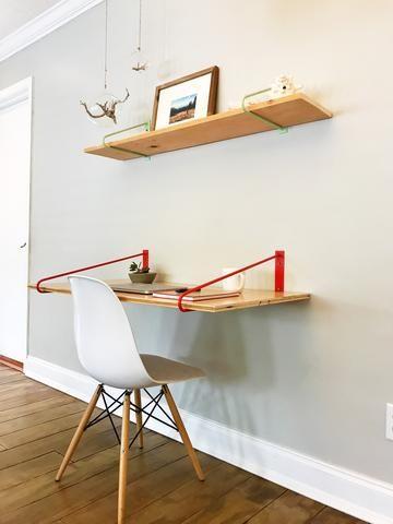 Pair Of Original Hairpin Shelf Brackets Floating Desk Brackets