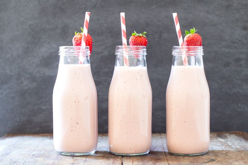 Easy strawberry banana milkshake easy peasy meals