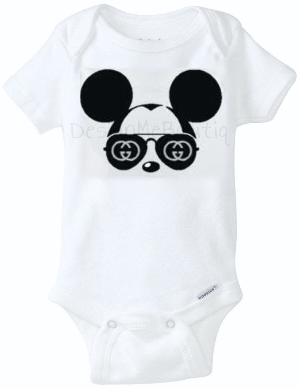 9c0b74561 Mickey Mouse Gucci Baby Onesie inspired Gucci OnesiesBaby Shower Gift Infant  bodysuit fashion vogue baby unisex