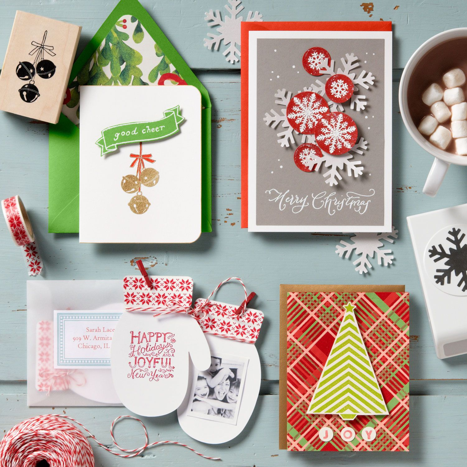 holiday card making ideas