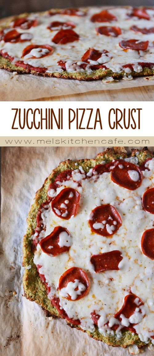 This low-carb zucchini pizza crust is totally and completely out of this world amazing.
