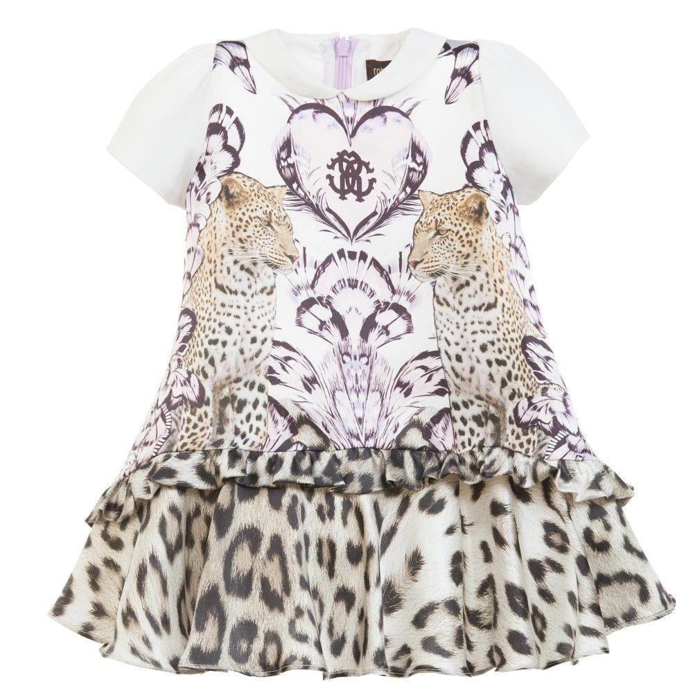 5293496e2d3c Roberto Cavalli Baby Girls 'Leopard' Print Silk Dress at Childrensalon.com