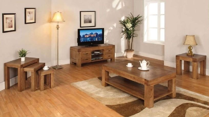 Santana Blonde Oak Square Coffee Table   The Santana Rustic Oak Collection  Is Made Using Partially