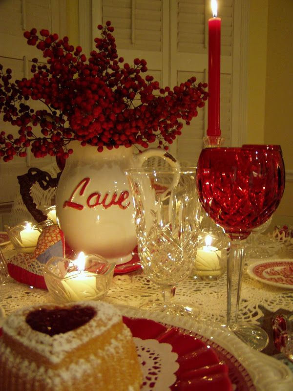 Craft decorations Valentineu0027s Day Tablescape Google