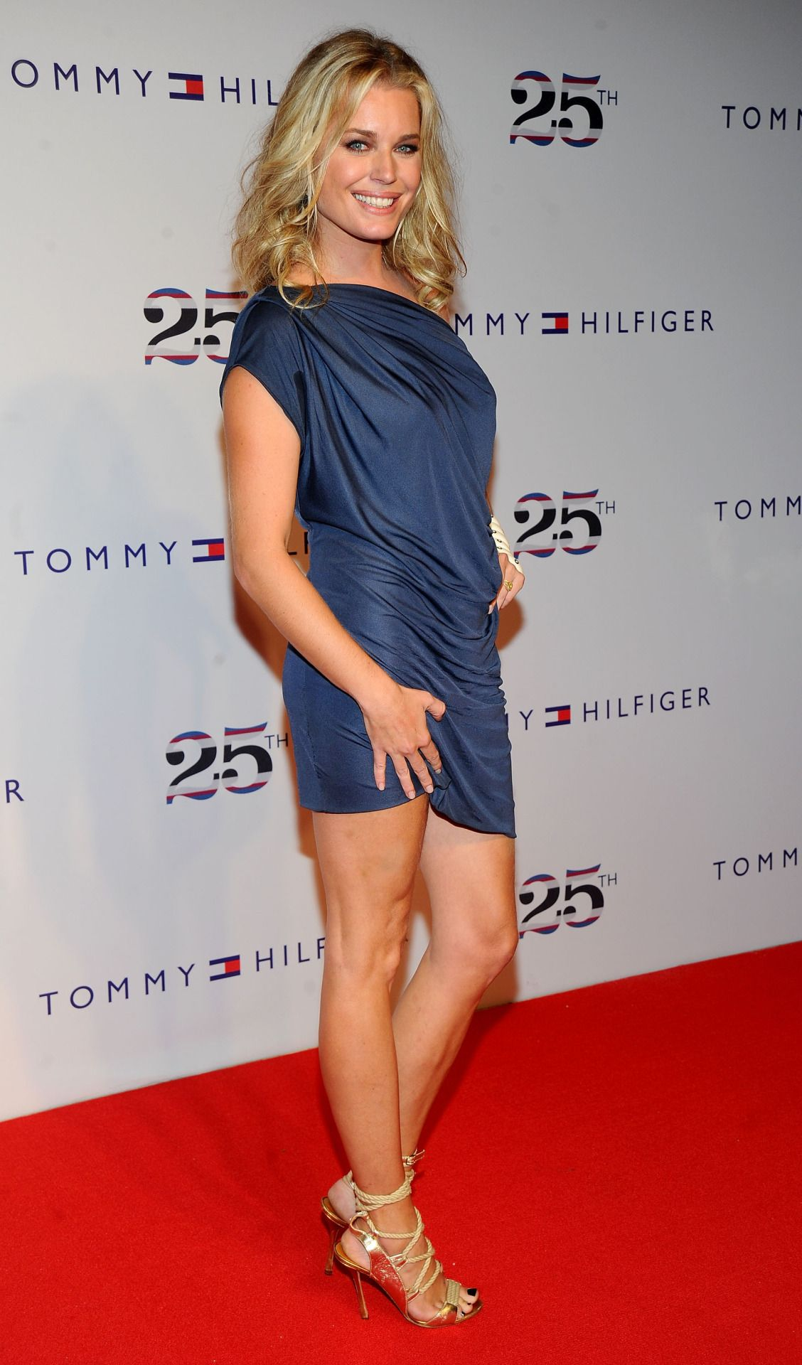 Rebecca Romijn Showing Off Her Hot Legs In A Mini Dress
