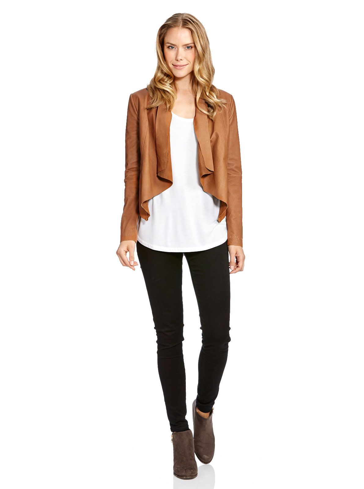 34edda863d4 Image for Waterfall Leather Jacket from Just Jeans