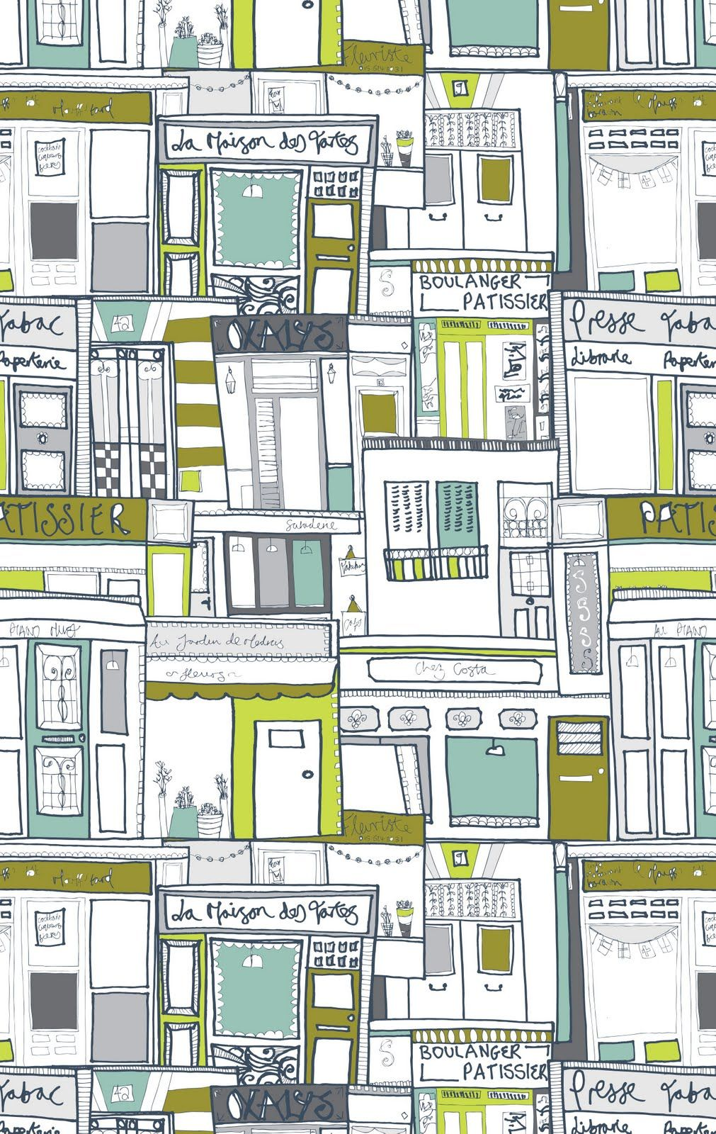 (♥♥♥♥♥) French shopfronts print by Jessica Hogarth, from her blog