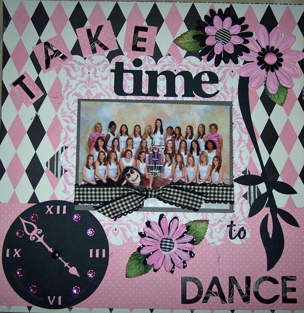 scrapbook page by Sher --take time to dance