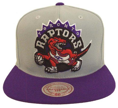 the best attitude 79daf 0341f Toronto Raptors Retro Mitchell   Ness Snapback Cap Hat Logo Grey Purple