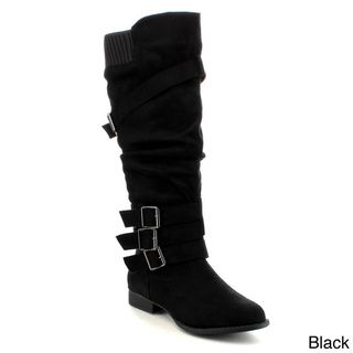 ANNA JUNO-5 Women's Knitted Sweater Knee High Boots